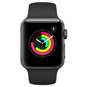 Apple Watch Series 3, GPS, 38 mm, Alumínio Cinza Espacial, Pulseira Esportiva Preto-0