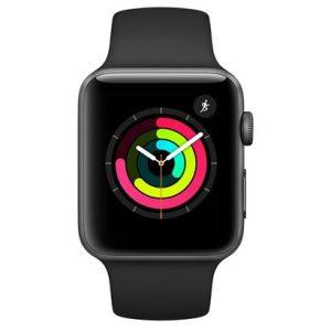 Apple Watch Series 3, GPS, 42 mm, Alumínio Cinza Espacial, Pulseira Esportiva Preto-0