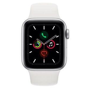 Apple Watch Series 5 GPS, 40 mm, Alumínio Prata, Pulseira Esportiva Branca e Fecho Clássico - MWV62BZ/A-0